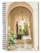 Archway And Stairs In Italy Spiral Notebook