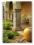 Archways At The Mission, Mission San Juan Capistrano, California Spiral Notebook