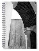 Arcs And Tangents Houston Water Wall In Black And White Spiral Notebook
