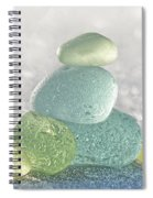 Arctic Spring Sea Glass Spiral Notebook