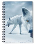 Arctic Wolves Spiral Notebook