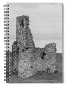 Ardvrek Castle 0945 Bw Spiral Notebook