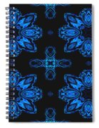 Area Blue Abstract Spiral Notebook