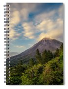 Arenal At The Sun's Last Touch Spiral Notebook