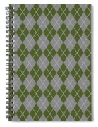 Argyle Diamond With Crisscross Lines In Paris Gray T09-p0126 Spiral Notebook