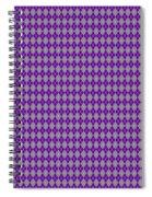Argyle Diamond With Crisscross Lines In Paris Gray T30-p0126 Spiral Notebook
