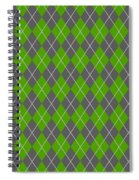 Argyle Diamond With Crisscross Lines In Pewter Gray N09-p0126 Spiral Notebook