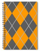 Argyle Diamond With Crisscross Lines In Pewter Gray T03-p0126 Spiral Notebook