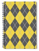Argyle Diamond With Crisscross Lines In Pewter Gray T05-p0126 Spiral Notebook