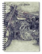 Ariel Square Four 1 - 1931 - Vintage Motorcycle Poster - Automotive Art Spiral Notebook