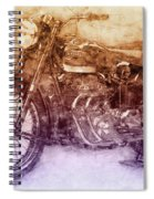 Ariel Square Four 2 - 1931 - Vintage Motorcycle Poster - Automotive Art Spiral Notebook