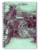 Ariel Square Four 3 - 1931 - Vintage Motorcycle Poster - Automotive Art Spiral Notebook