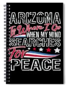 Arizona American Patriotic Memorial Day Spiral Notebook
