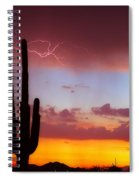 Arizona Lightning Sunset Spiral Notebook