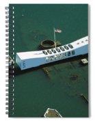 Arizona Memorial Aerial Spiral Notebook