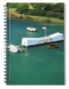 Arizona Memorial From Above Spiral Notebook