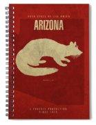 Arizona State Facts Minimalist Movie Poster Art Spiral Notebook