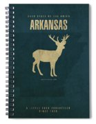 Arkansas State Facts Minimalist Movie Poster Art Spiral Notebook