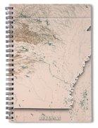Arkansas State Usa 3d Render Topographic Map Neutral Border Spiral Notebook