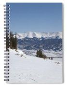 Arkansas Valley From Mount Elbert Colorado In Winter Spiral Notebook