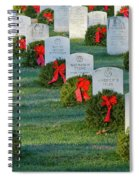 Arlington National Cemetery At Christmas Spiral Notebook