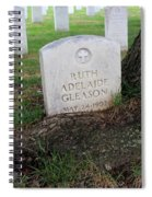 Arlington Tombstone Lodged In Tree Trunk Spiral Notebook