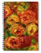 Armful Of Roses 1918 Spiral Notebook