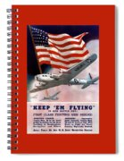Army Air Corps Recruiting Poster Spiral Notebook