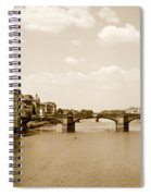 Arno River Florence Spiral Notebook