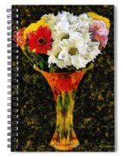 Arrangement In Confetti And Black Spiral Notebook