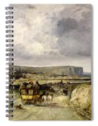 Arrival Of A Stagecoach At Treport Spiral Notebook