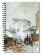 Arrival Of A Train Spiral Notebook