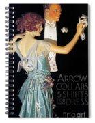 Arrow Shirt Collar Ad, 1923 Spiral Notebook