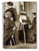 Art Class Oil Painting Teacher  And Art Students 1900 Spiral Notebook