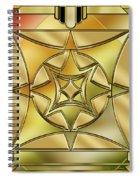 Art Deco Brass 2 Spiral Notebook