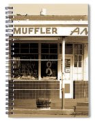 Art Deco Gas Station Americana Spiral Notebook