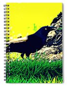 Art Deco Grackle Spiral Notebook