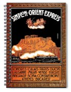 Art Deco Orient Express Advertising Athens Spiral Notebook