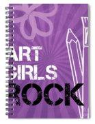 Art Girls Rock Spiral Notebook