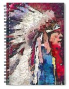 Art Indian Chief Pearlesques In Fragments  Spiral Notebook