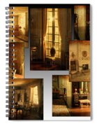 Art Institute Of Chicago Miniature Room Collage Textured Spiral Notebook