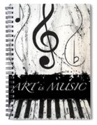 Art Is Music-music In Motion Spiral Notebook
