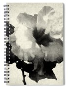 Art Is The Hibiscus -black And White Spiral Notebook
