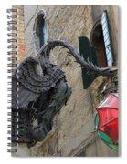 Art Nouveau Dragon In Marzaria Venice Italy Spiral Notebook