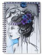 Art Nouveau Girl 1 Spiral Notebook