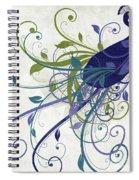 Art Nouveau Peacock I Spiral Notebook