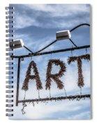 Art Sign Spiral Notebook