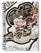 Art Violin And Roses Pearlesqued In Fragments  Spiral Notebook