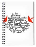Art Word Cloud 1 Spiral Notebook