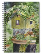 Artful Birdhouse Spiral Notebook